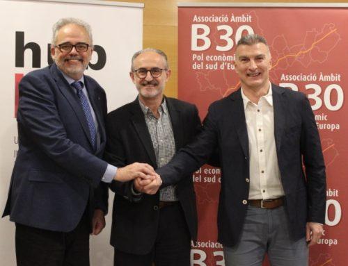 La UAB, la Fundación PRUAB, Eurecat y la Asociación B30 firman un convenio que pone las bases de futuras adhesiones a la plataforma HUBB30