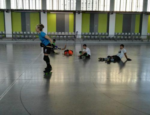 Primeras pruebas de velocidad para el diseño de un casco protector para el hockey patines