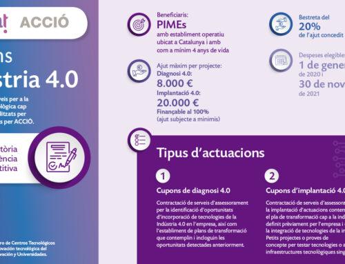 Cupons Indústria 4.0 2020: descomptes econòmics per a la transformació de les empreses