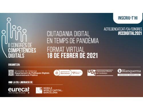 La ciutadania digital en temps de pandèmia, a debat en el II Congrés de Competències Digitals