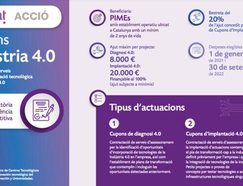 Cupons Indústria 4.0 2021: serveis per a la transformació de les empreses cap a la indústria 4.0